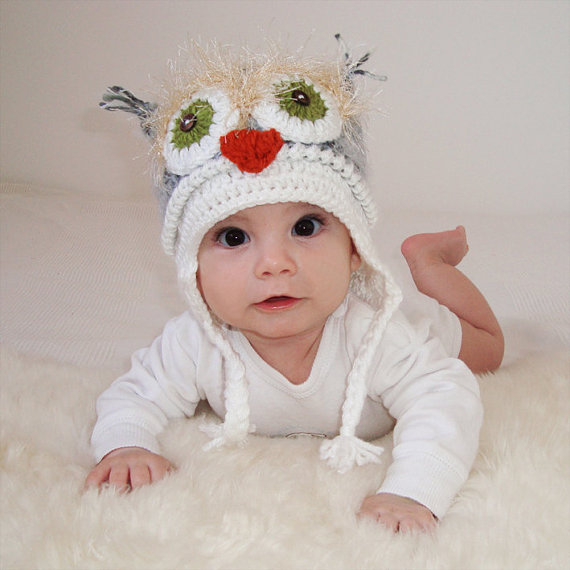Current Obsession: Crocheted Owl Hats
