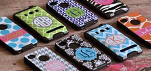 monogram otterbox phone case