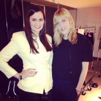Designer Erin Barr and I, after our interview