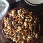 St. Patty's Day Recipe! Chocolate, Pretzel & Stout Caramel Corn