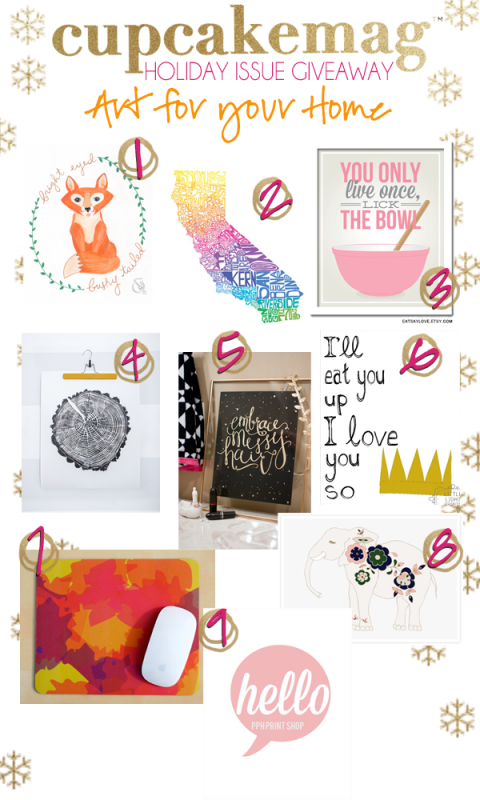 Gallery Wall Inspiration :: 9 Art Prints Giveaway (Over $200 of Prints!)
