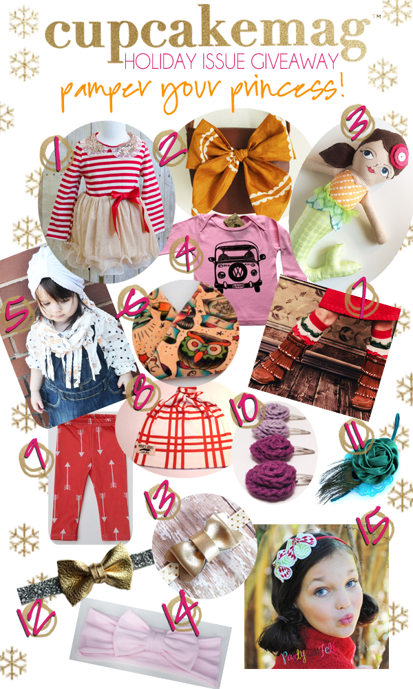 Pamper your Little Princess with over $400 in prizes from the Holiday Issue - giveaway at cupcakeMAG