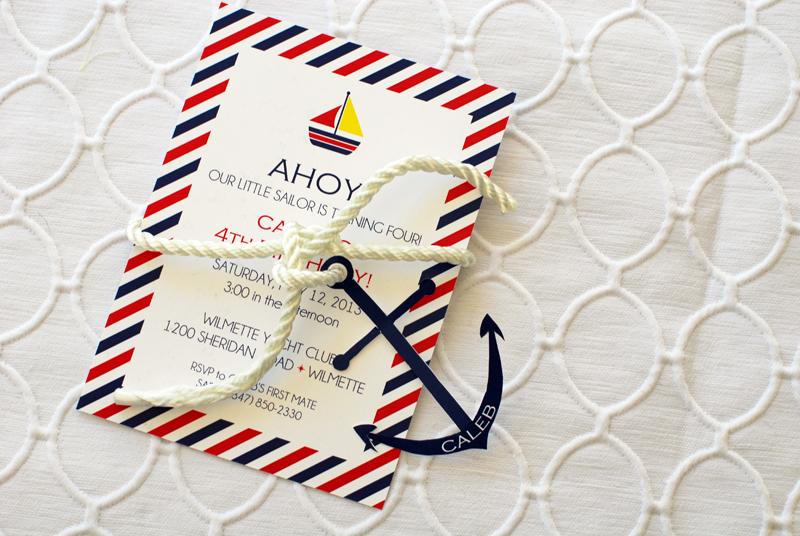 nautical invitation horizontal
