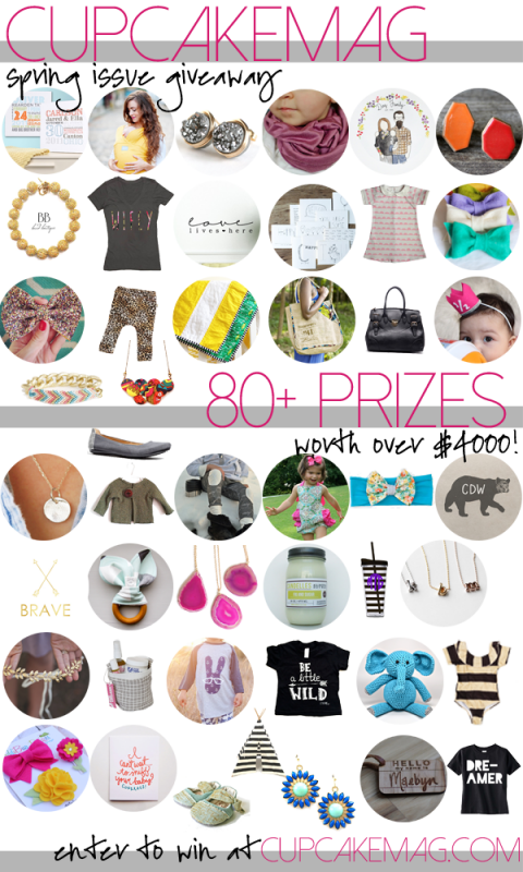 CupcakeMAG Spring 2014 Issue Giveaway - 80+ Prizes worth more than $4000! Enter at cupcakemag.com