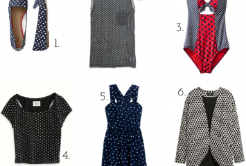 womens polka dot collage
