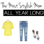 stylish mom button