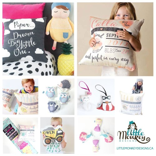 Little_Monkey_Designs_Personalized_Pillows_Baby_Rattles