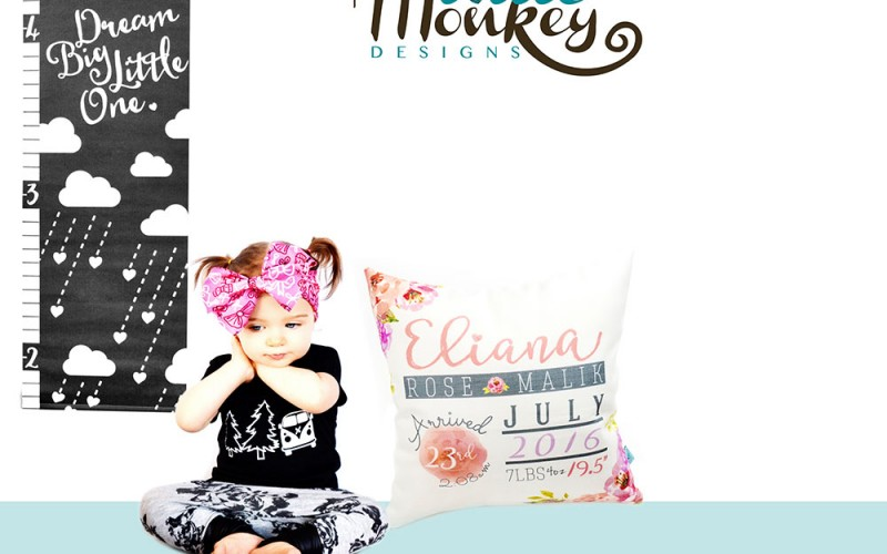 Personalized, unique, and custom designs for your little one from Little Monkey Designs + a giveaway!